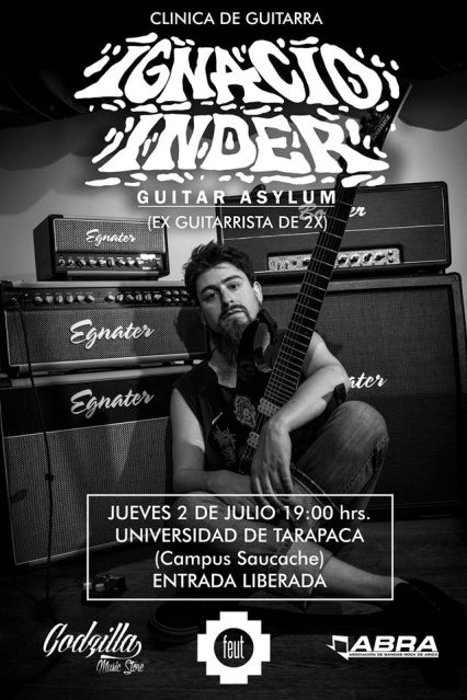 Afiche clínica de guitarra
